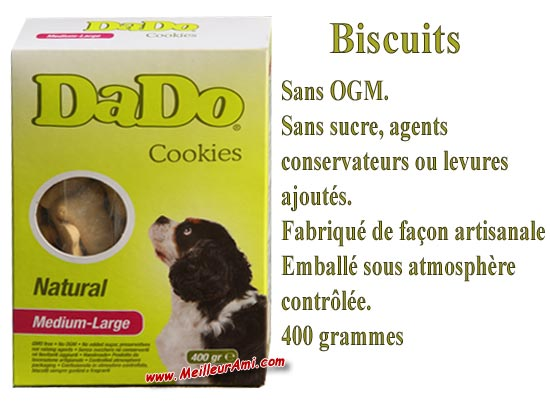 Biscuits DADO Cookies Natural Medium Large 400g