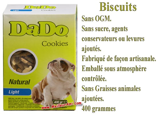 Biscuits DADO Cookies Natural Light 400g