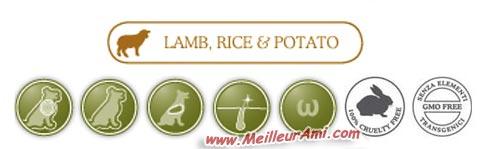 Logos Dado Agneau riz et patates