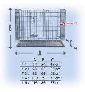 Cage de transport ou d'exposition dimensions