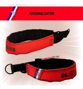 Collier chien personnalisable rouge écho