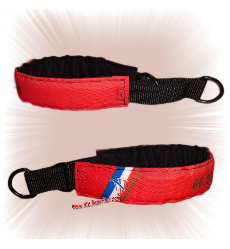 Collier chien sur mesure rouge