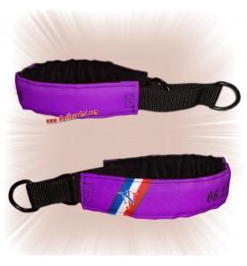 Collier chien sur mesure violet