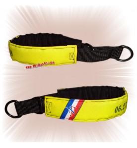 Collier chien sur mesure jaune