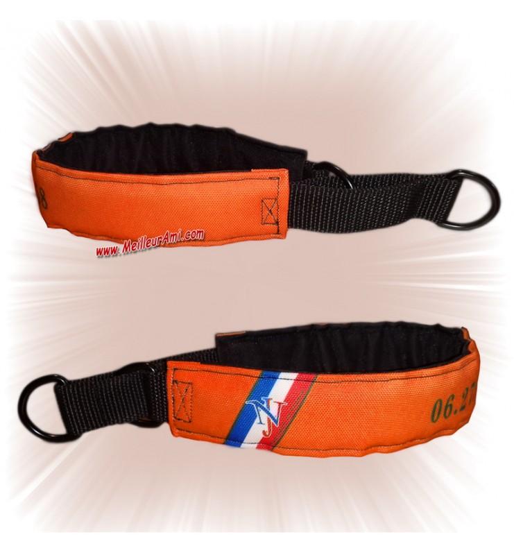 Collier chien sur mesure orange