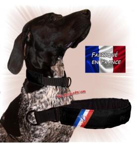 Collier chien personnalisable sur mesure noir