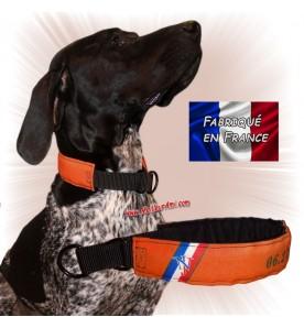 Collier chien personnalisable sur mesure orange