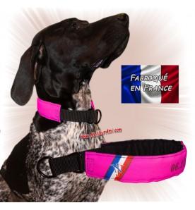 Collier chien personnalisable sur mesure rose