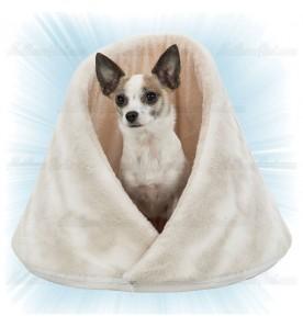 Abri pour chien doux