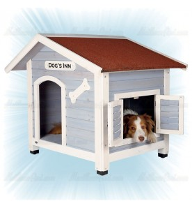 Niche pour chien avec fenêtre
